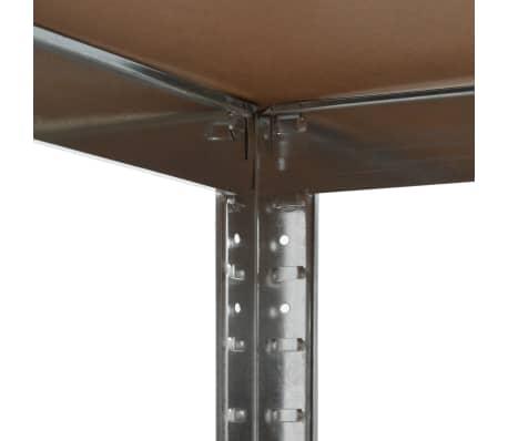 vidaXL Estantería de acero y MDF 90x90x180 cm plateado[4/8]