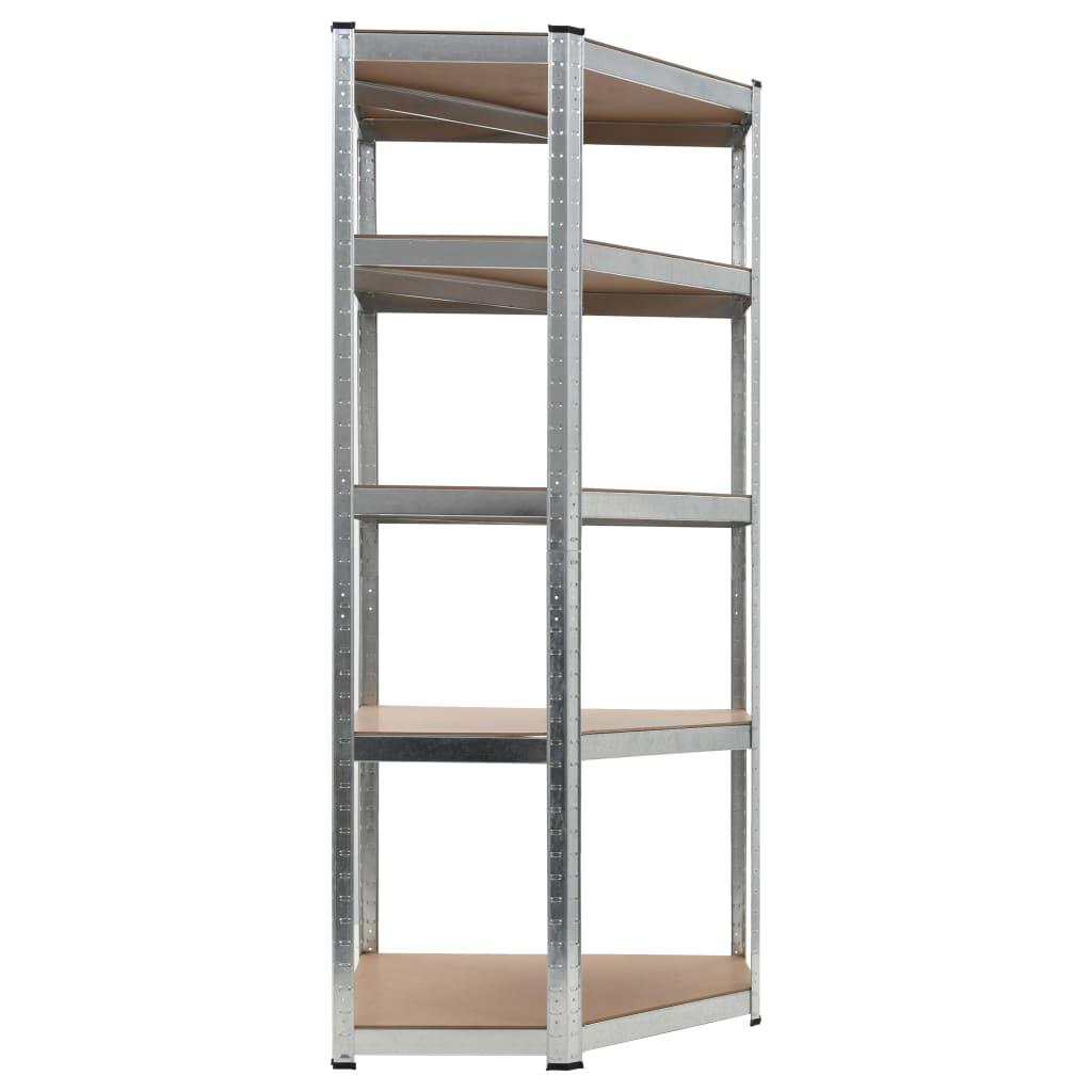 99144265 Lagerregal Silbern 75 x 75 x 180 cm Stahl und MDF