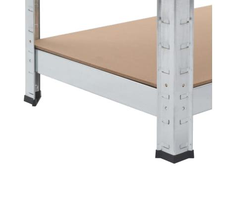 vidaXL Opbergrekken 2 st 80x40x160 cm staal en MDF zilverkleurig[9/10]