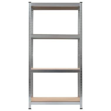 vidaXL Lentynos, 2vnt., sidabrinės sp., 80x40x160cm, plienas ir MDF[5/10]