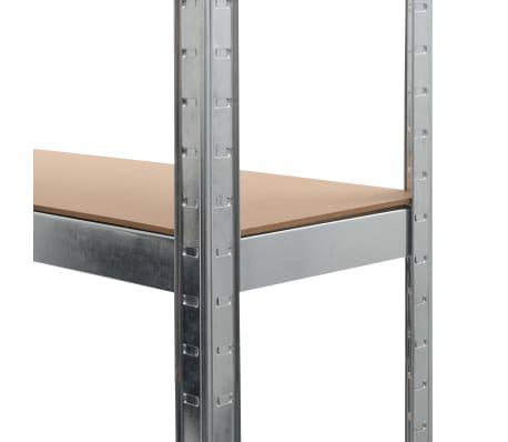 """vidaXL Storage Shelf Silver 35.4""""x11.8""""x70.9"""" Steel and MDF[7/9]"""