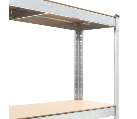 """vidaXL Storage Shelf Silver 29.4""""x23.6""""x70.9"""" Steel and MDF[4/8]"""