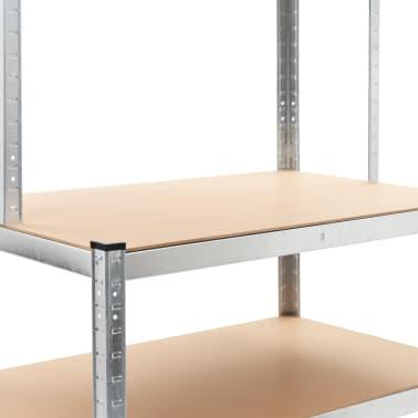 """vidaXL Storage Shelf Silver 29.4""""x23.6""""x70.9"""" Steel and MDF[5/8]"""