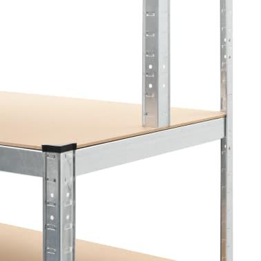 """vidaXL Storage Shelf Silver 29.4""""x23.6""""x70.9"""" Steel and MDF[6/8]"""