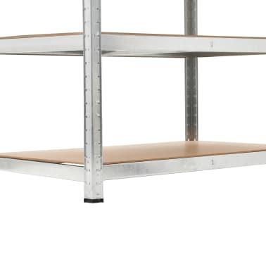 """vidaXL Storage Shelf Silver 29.4""""x23.6""""x70.9"""" Steel and MDF[7/8]"""