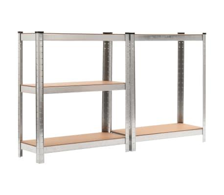 """vidaXL Storage Shelf Silver 29.5""""x11.8""""x67.7"""" Steel and MDF[4/9]"""