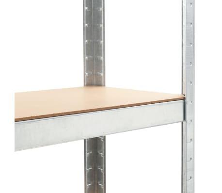 """vidaXL Storage Shelf Silver 29.5""""x11.8""""x67.7"""" Steel and MDF[6/9]"""