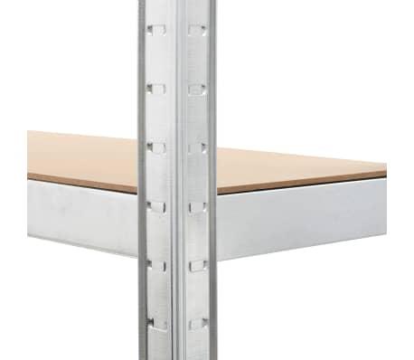 """vidaXL Storage Shelf Silver 29.5""""x11.8""""x67.7"""" Steel and MDF[7/9]"""