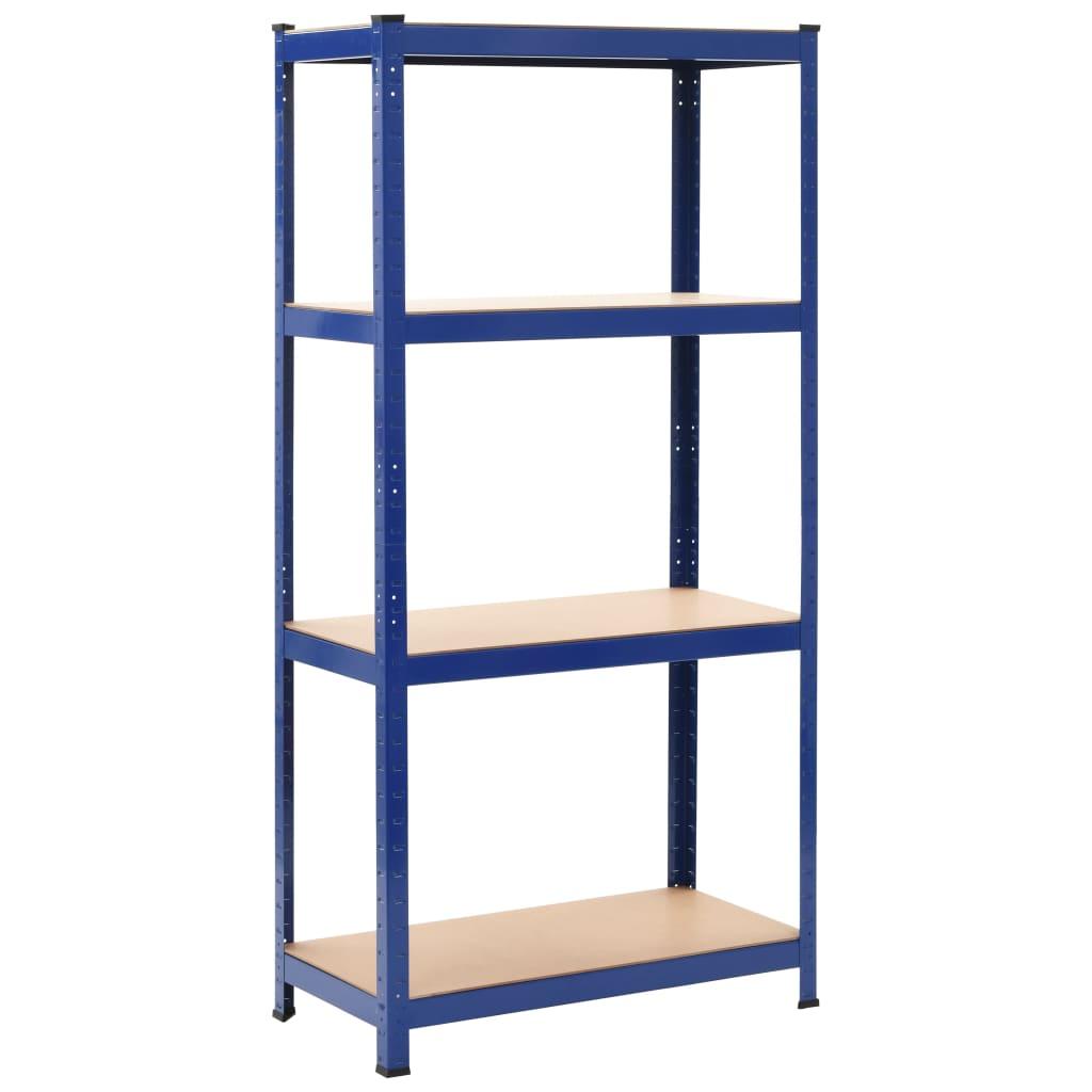 vidaXL Raft de depozitare, albastru, 80x40x160 cm, oțel și MDF vidaxl.ro