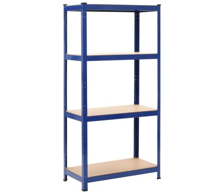 vidaXL Raft de depozitare, albastru, 80x40x160 cm, oțel și MDF