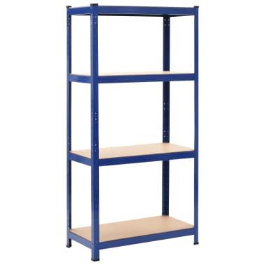 vidaXL Opbergrek 80x40x160 cm staal en MDF blauw[1/9]