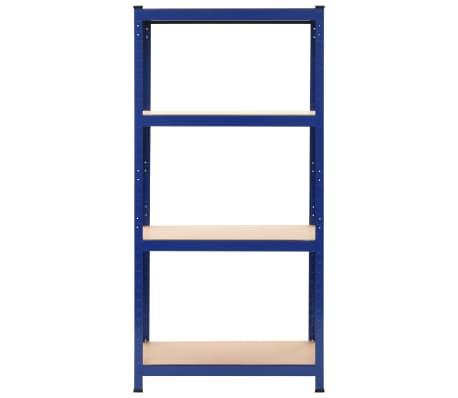 vidaXL Opbergrek 80x40x160 cm staal en MDF blauw[2/9]