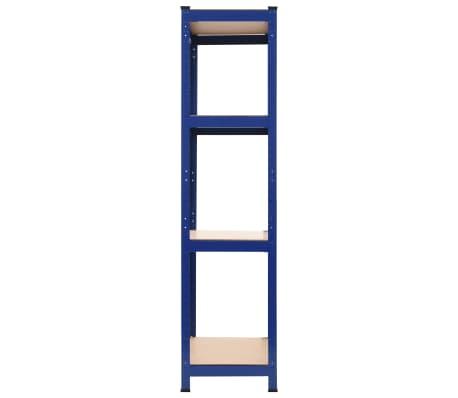 vidaXL Opbergrek 80x40x160 cm staal en MDF blauw[3/9]