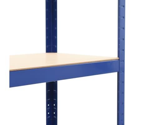 vidaXL Opbergrek 80x40x160 cm staal en MDF blauw[6/9]