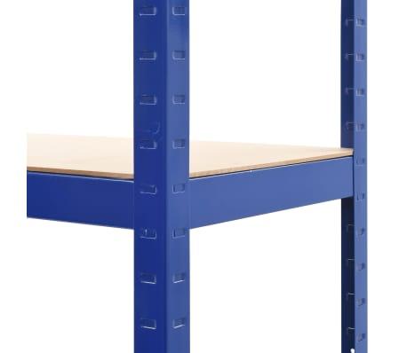 vidaXL Opbergrek 80x40x160 cm staal en MDF blauw[7/9]