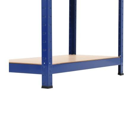 vidaXL Opbergrek 80x40x160 cm staal en MDF blauw[8/9]
