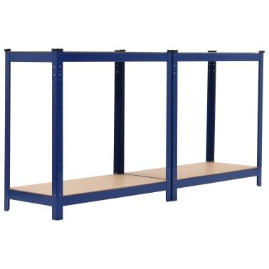 vidaXL Opbergrek 80x40x160 cm staal en MDF blauw[4/9]