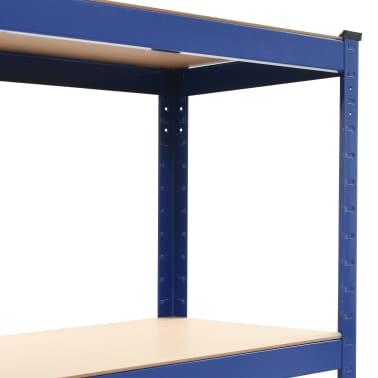 vidaXL Opbergrek 80x40x160 cm staal en MDF blauw[5/9]