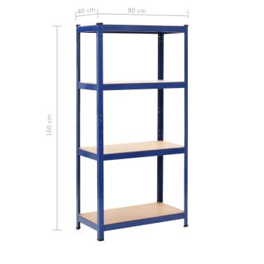 vidaXL Opbergrek 80x40x160 cm staal en MDF blauw[9/9]