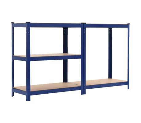 vidaXL Lentyna, mėlyna, 80x40x180cm, plienas ir MDF[4/9]