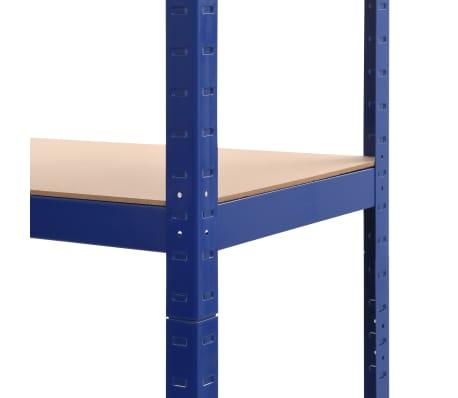vidaXL Lentyna, mėlyna, 80x40x180cm, plienas ir MDF[7/9]