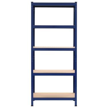 vidaXL Lentyna, mėlyna, 80x40x180cm, plienas ir MDF[2/9]