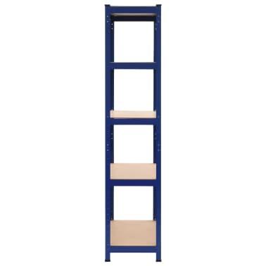 vidaXL Lentyna, mėlyna, 80x40x180cm, plienas ir MDF[3/9]