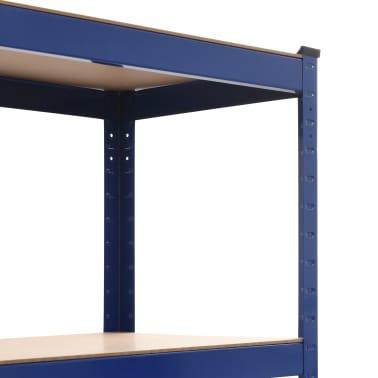 vidaXL Lentyna, mėlyna, 80x40x180cm, plienas ir MDF[5/9]
