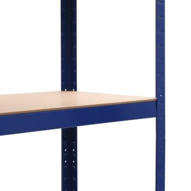 vidaXL Lentyna, mėlyna, 80x40x180cm, plienas ir MDF[6/9]