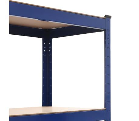 vidaXL Lentynos, 2vnt., mėlynos, 80x40x180cm, plienas ir MDF[6/10]