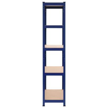 vidaXL Lentynos, 2vnt., mėlynos, 80x40x180cm, plienas ir MDF[4/10]