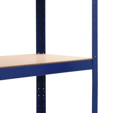vidaXL Lentynos, 2vnt., mėlynos, 80x40x180cm, plienas ir MDF[7/10]