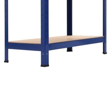vidaXL Lentynos, 2vnt., mėlynos, 80x40x180cm, plienas ir MDF[9/10]