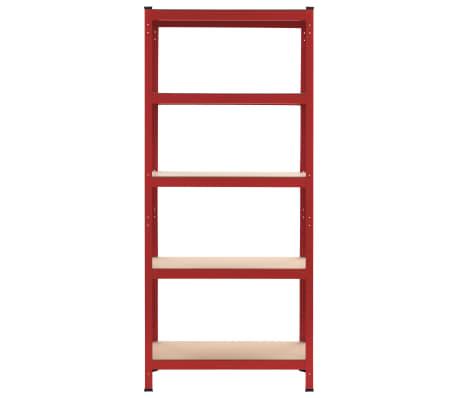 vidaXL Lentyna, raudona, 80x40x180cm, plienas ir MDF[2/9]