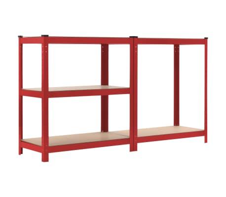 vidaXL Lentyna, raudona, 80x40x180cm, plienas ir MDF[4/9]