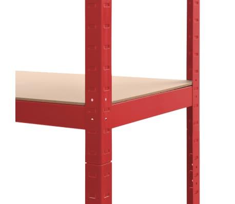 vidaXL Lagerregale 2 Stk. Rot 80 x 40 x 180 cm Stahl und MDF[8/10]