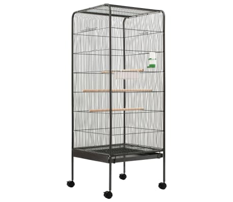 vidaXL Bird Cage Grey 54x54x146 cm Steel