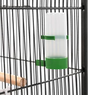 """vidaXL Bird Cage Gray 21.3""""x21.3""""x57.5"""" Steel[5/8]"""