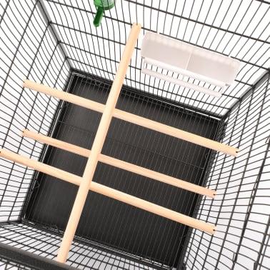 """vidaXL Bird Cage Gray 21.3""""x21.3""""x57.5"""" Steel[7/8]"""