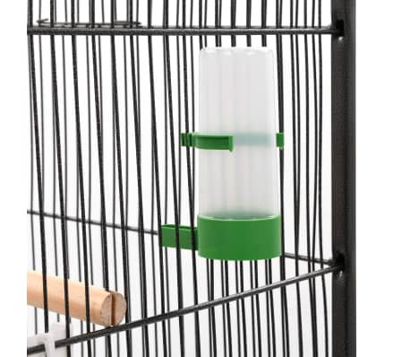 "vidaXL Bird Cage with Roof Gray 26""x26""x61"" Steel[5/8]"