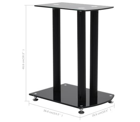vidaXL Aluminum Speaker Stands 2 pcs Black Safety Glass[6/6]