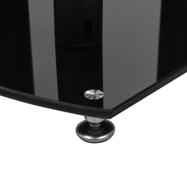 vidaXL Aluminum Speaker Stands 2 pcs Black Safety Glass[5/6]