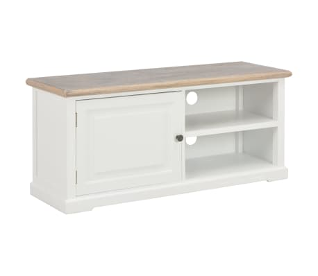 vidaXL TV Cabinet White 90x30x40 cm Wood