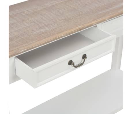 vidaXL Konsolinis staliukas, baltos sp., 110x35x80cm, mediena[7/8]
