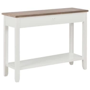 vidaXL Konsolinis staliukas, baltos sp., 110x35x80cm, mediena[4/8]