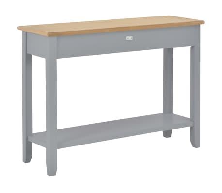 vidaXL Konsolinis staliukas, pilkas, 110x35x80cm, mediena[4/8]