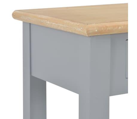 vidaXL Konsolinis staliukas, pilkas, 110x35x80cm, mediena[6/8]