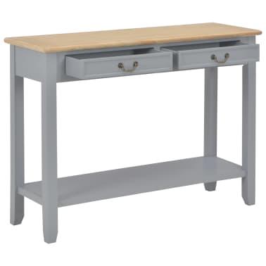 vidaXL Konsolinis staliukas, pilkas, 110x35x80cm, mediena[2/8]