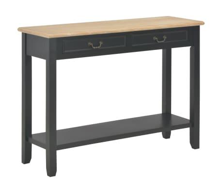vidaXL Konsolinis staliukas, juodas, 110x35x80cm, mediena[1/8]