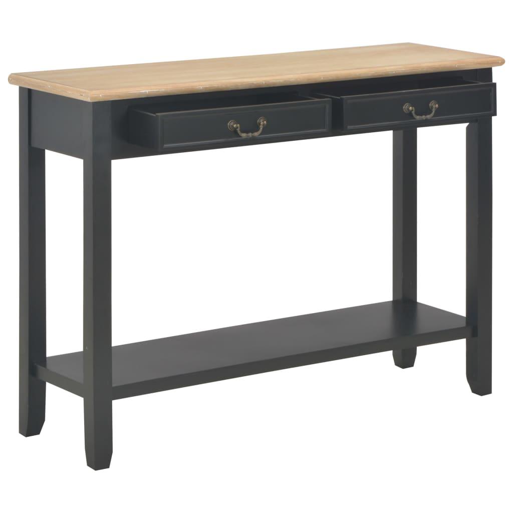 Wandtafel 110x35x80 cm hout zwart